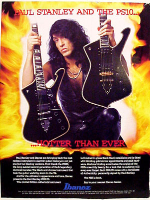 Paul Stanley Ad  from 1995