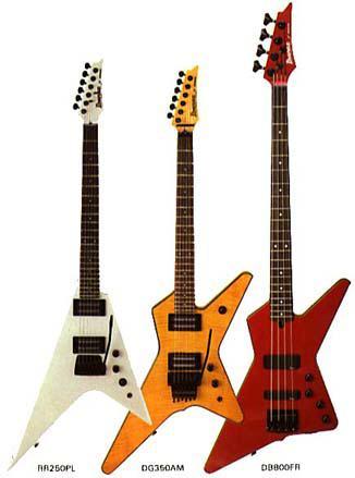 Vintage Ibanez Guitar Site Destroyer Rocket Roll X Series Models